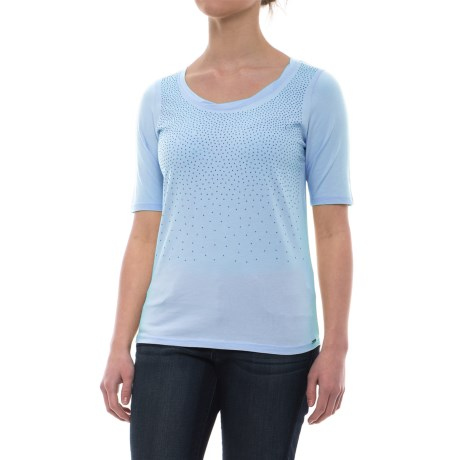 FDJ French Dressing Studded Ombre Effect T-Shirt - Short Sleeve (For Women) in Sky