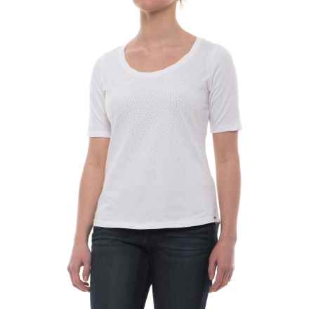FDJ French Dressing Studded Ombre Effect T-Shirt - Short Sleeve (For Women) in White/Silver - Closeouts