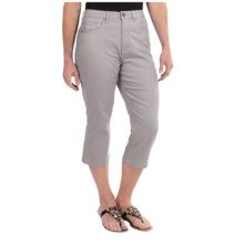 FDJ French Dressing Suzanne Colored Capris - Stretch Cotton (For Women) in Silver - Closeouts