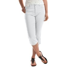 FDJ French Dressing Suzanne Colored Capris - Stretch Cotton (For Women) in White - Closeouts