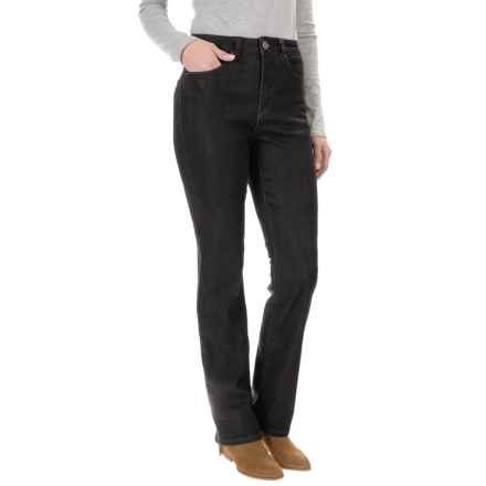 FDJ French Dressing Suzanne Cozy Denim Jeans - Straight Leg (For Women) in Black - Closeouts