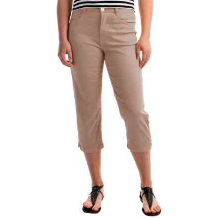 FDJ French Dressing Suzanne Crop Pants - High Rise (For Women) in Khaki - Overstock
