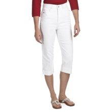 FDJ French Dressing Suzanne Denim Capris (For Women) in White - Closeouts