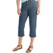 FDJ French Dressing Suzanne Detailed Capris - High Rise (For Women) in Idigo Dot - Overstock