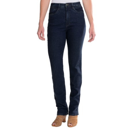 FDJ French Dressing Suzanne Diamond Denim Jeans - Straight Leg, Stretch Cotton (For Women) in Dark Wash