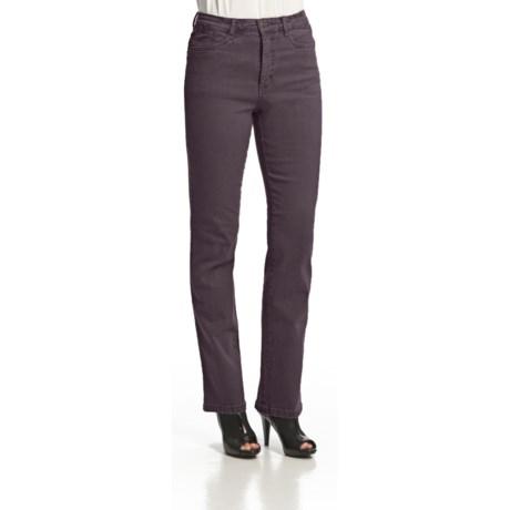 FDJ French Dressing Suzanne Diamond Denim Jeans - Straight Leg, Stretch Cotton (For Women) in Plum Tint
