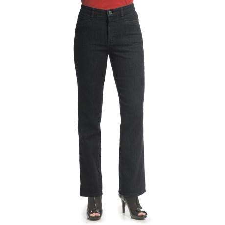 FDJ French Dressing Suzanne Euro Denim Pants - Straight Leg, Stretch Cotton Blend (For Women) in Blue/Black