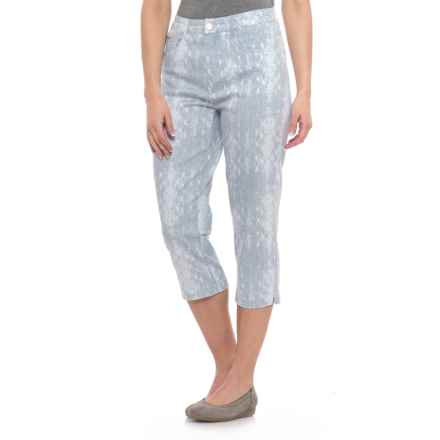 FDJ French Dressing Suzanne High-Rise Capris (For Women) in White/Chambray - Closeouts