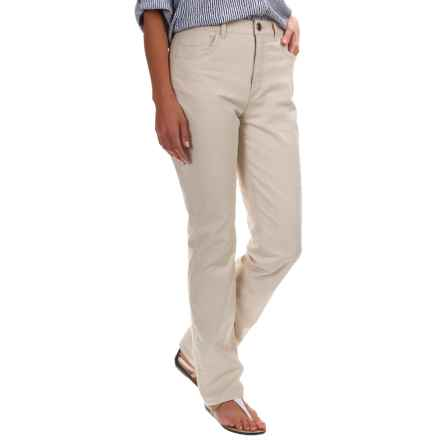 FDJ French Dressing Suzanne Linen Pants - Straight Leg (For Women) in Straw - Overstock