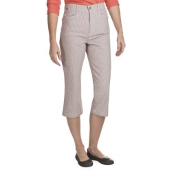 FDJ French Dressing Suzanne Nantucket Stripe Capris (For Women) in Tan