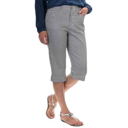 FDJ French Dressing Suzanne Pedal Pusher Shorts (For Women) in Gingham Black - Overstock