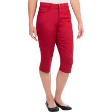 FDJ French Dressing Suzanne Pedal Pushers - High Rise (For Women) in Red - Closeouts