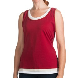FDJ French Dressing Triple Fooler Tank Top (For Women) in Lipstick