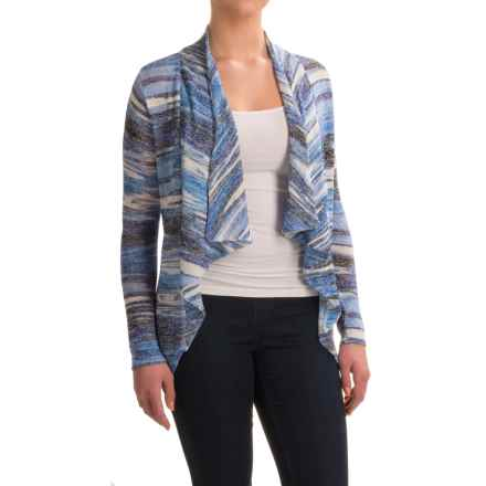 FDJ French Dressing Venetian Stripe Cardigan Sweater (For Women) in Blue Tone - Closeouts