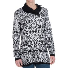 FDJ French Dressing Zip Collar Sweater (For Women) in Black/Winter White - Closeouts