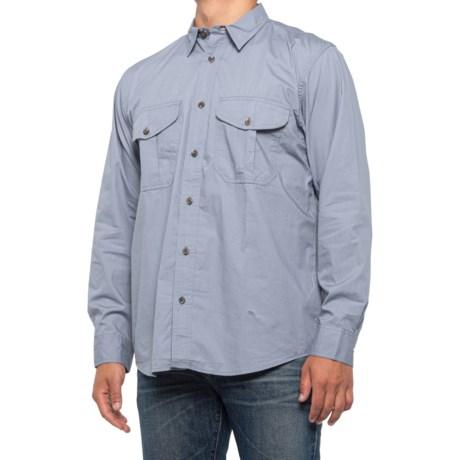 Feather Cloth Button-Up Shirt - Short Sleeve (For Men) - SMOKE/BLUE (3XL )