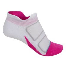 Feetures Discontinued Elite No-Show Socks - Below the Ankle (For Women) in White/Periwinkle - Closeouts
