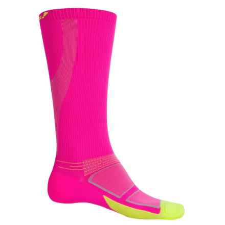 Feetures Elite Graduated Compression Socks - Over the Calf, Discontinued (For Men and Women) in Electric Pink - Closeouts