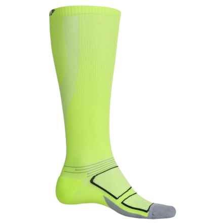 Feetures Elite Graduated Compression Socks - Over the Calf, Discontinued (For Men and Women) in Reflector/Black - Closeouts