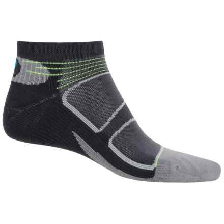 Feetures Elite Light Cushion Low-Cut Socks - Below the Ankle, Discontinued (For Men and Women) in Black/Brilliant Blue - Closeouts