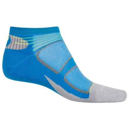 Feetures Elite Light Cushion Low-Cut Socks - Below the Ankle, Discontinued (For Men and Women) in Brilliant Blue/Reflector - Closeouts