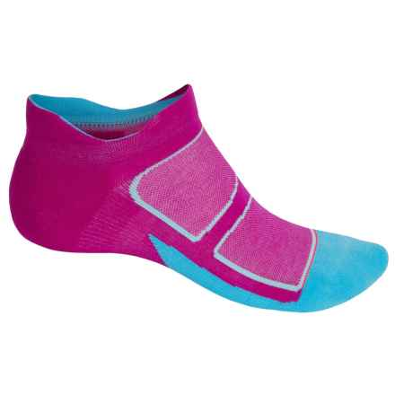 Feetures Elite Max-Cushion Socks - Below the Ankle, Discontinued (For Men and Women) in Berry/Lava - Closeouts
