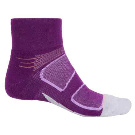 Feetures Elite Merino+ Ankle Socks - Merino Wool, Discontinued (For Men) in Ultraviolet/Sky Blue - Closeouts