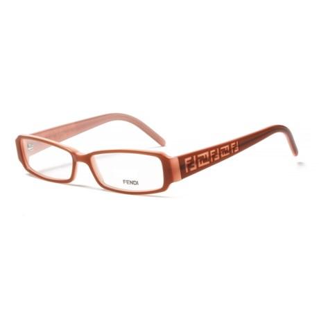 Fendi 664 255 Designer Optical Reading Glasses (For Women) in Light Brown/Rose
