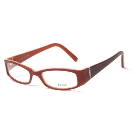 Fendi 720R 613 Designer Optical Reading Glasses with Case (For Women) in Regal Red