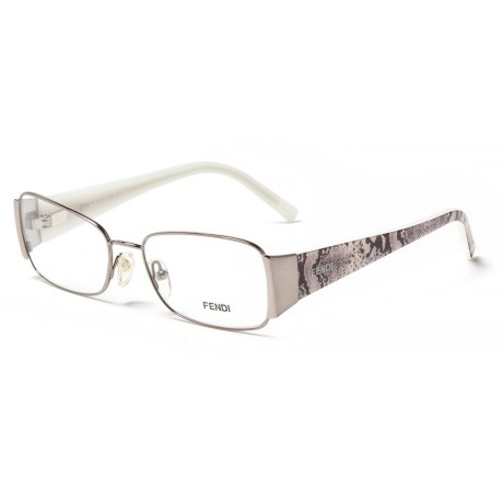 Fendi 873 036 Designer Optical Reading Glasses with Case (For Women) in Light Gunmetal