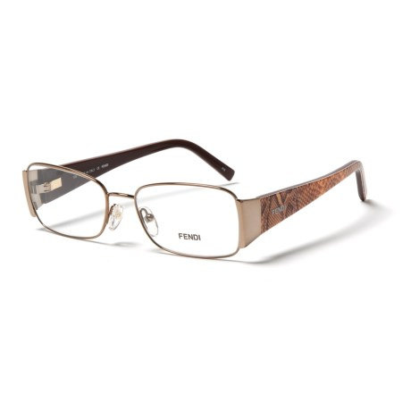 Fendi 873 204 Designer Optical Reading Glasses with Case (For Women) in Brown/Snake Print