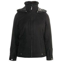 Fera Bianca Jacket - Insulated, Faux-Fur-Lined Collar (For Women) in Black