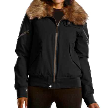 Fera Bomber Jacket- Insulated (For Women) in Black - Closeouts