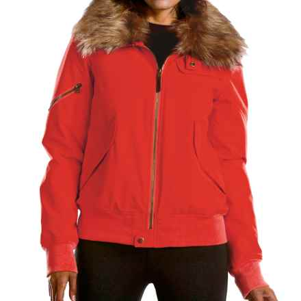 Fera Bomber Jacket- Insulated (For Women) in Lava - Closeouts