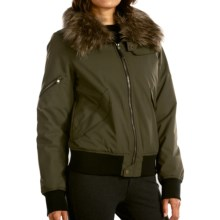 Fera Bomber Jacket- Insulated (For Women) in Loden - Closeouts