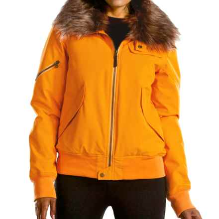 Fera Bomber Jacket- Insulated (For Women) in Saffron - Closeouts