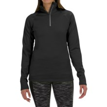 Fera Chill Out Pullover Shirt - Zip Neck, Long Sleeve (For Women) in Coal Melange - Closeouts