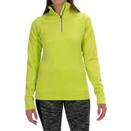 Fera Chill Out Shirt - Zip Neck, Long Sleeve (For Women) in Acid Lime - Closeouts