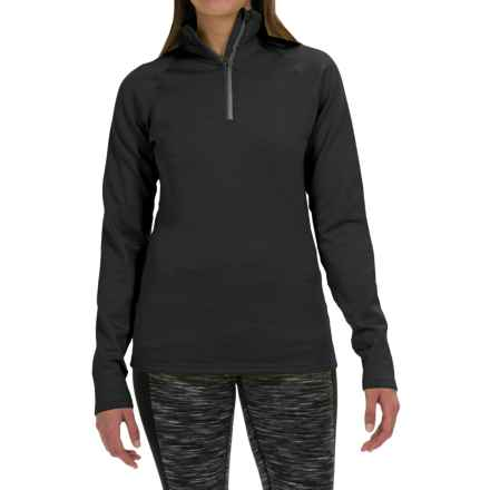 Fera Chill Out Shirt - Zip Neck, Long Sleeve (For Women) in Coal Melange - Closeouts
