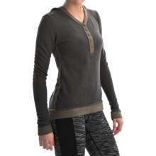 Fera Cuddle Henley Hoodie (For Women) in Charcoal Heather - Closeouts