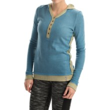 Fera Cuddle Henley Hoodie (For Women) in Dusty Mint - Closeouts