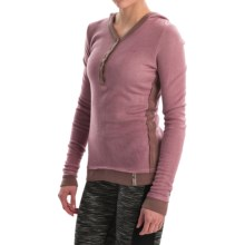 Fera Cuddle Henley Hoodie (For Women) in Lilac - Closeouts