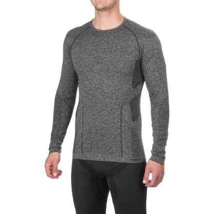 Fera Ergo Base Layer Top - Crew Neck, Long Sleeve (For Men) in Black Heather - Closeouts
