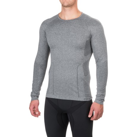 Fera Ergo Base Layer Top - Crew Neck, Long Sleeve (For Men) in Heather Gray