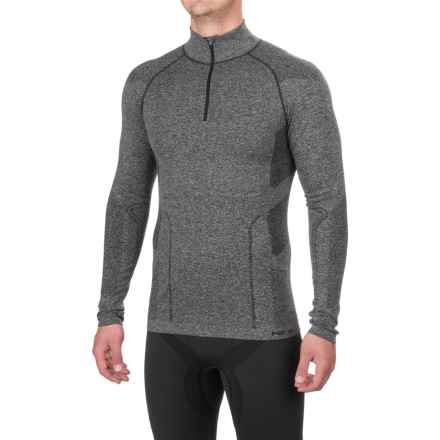 Fera Ergo Base Layer Top - Zip Neck, Long Sleeve (For Men) in Black Heather - Closeouts