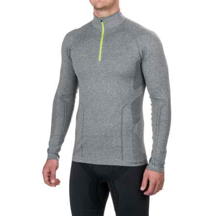 Fera Ergo Base Layer Top - Zip Neck, Long Sleeve (For Men) in Gray Heather/Acid - Closeouts