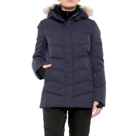 Fera Kimber PrimaLoft® Down-Blend Ski Jacket - Waterproof, Faux-Fur Trim (For Women) in Ink Melange - Closeouts
