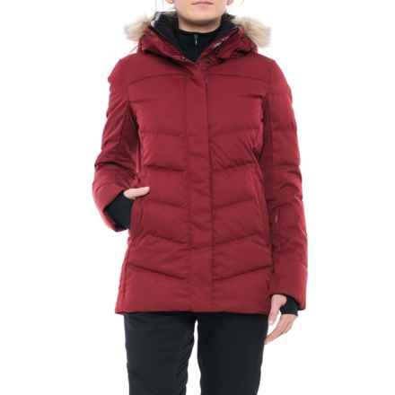 Fera Kimber PrimaLoft® Down-Blend Ski Jacket - Waterproof, Faux-Fur Trim (For Women) in Pinot Melange - Closeouts