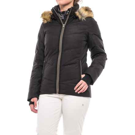 Fera Loren PrimaLoft® Down Ski Jacket - Waterproof, Insulated (For Women) in Black Glimmer/Bronze - Closeouts