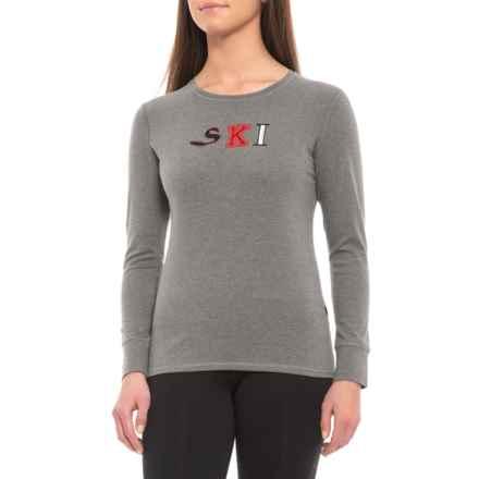 ecf258389b Fera Ski Crew Base Layer Top - Long Sleeve (For Women) in Heather Gray